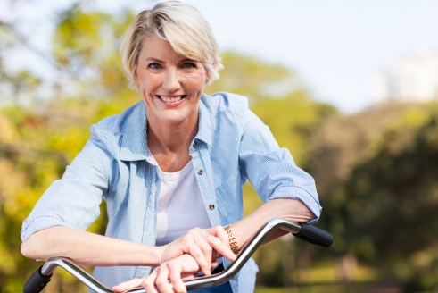 shutterstock_woman on bike